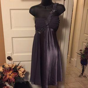 Women's size 12 dress gray sexy short formal