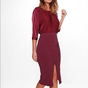 Dresses & Skirts - PLUM sleeved midi