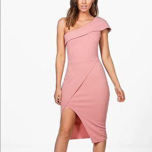 Dresses & Skirts - PINK one shoulder midi