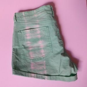 Joe Fresh Seafoam Tie Dye Jean Shorts size 8