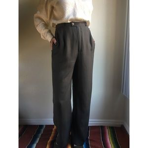 Vintage✨100% silk olive trousers