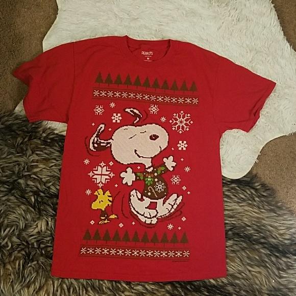 23b26985 Peanuts Shirts   Ugly Christmas Sweater T Shirt Snoopy Snow   Poshmark