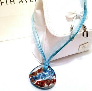 Jewelry - Glass Medallion Mediterranean Necklace
