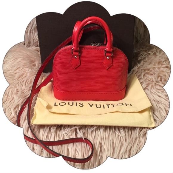 7273a7df4ca7 Louis Vuitton Handbags - LIKE NEW Authentic Louis Vuitton Epi Nano Alma Red