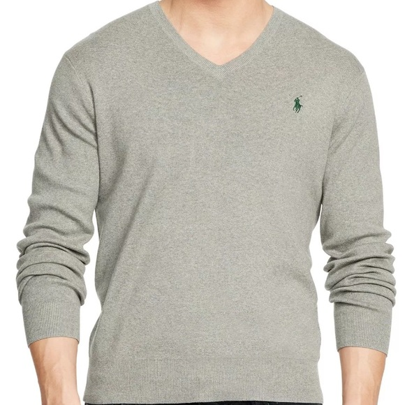 detailed pictures footwear purchase cheap Polo Ralph Lauren Pima Cotton V-Neck Sweater S Boutique