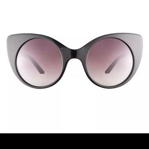 Thierry Mugler Black Cat Eye Sunglasses