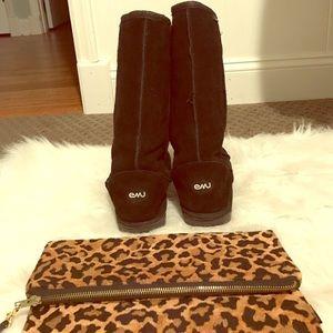 Emu black tall boots