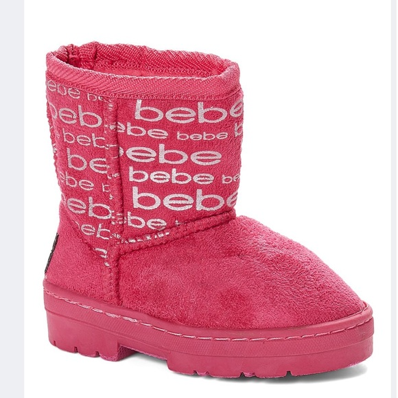 Brand New Silver Logo Bebe Kids Boots
