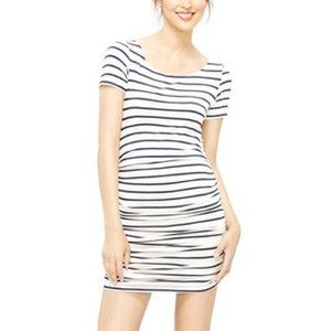 Amour Vert Fitted Striped Mini Dress W Rouching