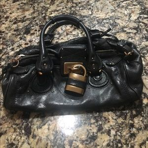 Authentic lrg CHLOE Paddington black leather