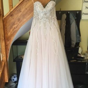 Alvina Valenta Blush Wedding Dress