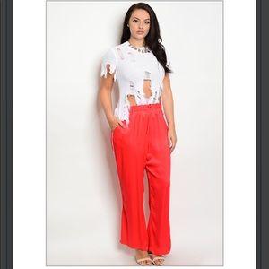 🆕Plus Size Sexy Silk Track Pants
