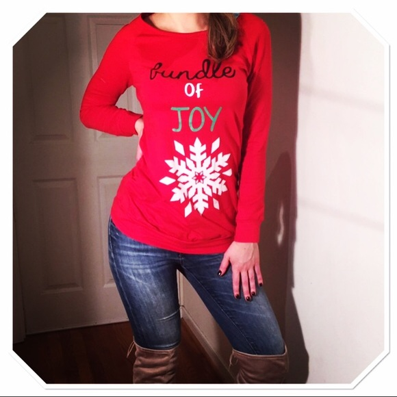 Maternity Christmas Shirt.Holiday Maternity Christmas Sparkling Party Shirt Boutique