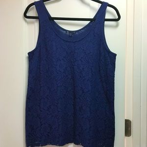Gap Floral Lace Tank Sleeveless Top
