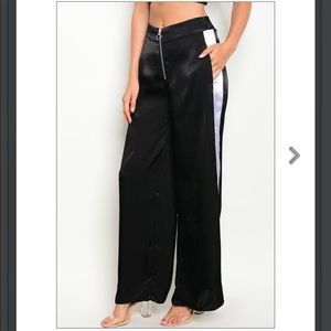 Sale🚨🆕Black sexy silk Track Pants