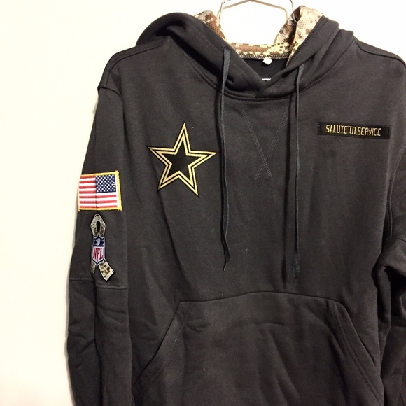 separation shoes 48530 73b34 Cowboys salute to service hoodie