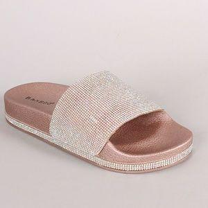 a9d9f3bf49ddf1 SARAH SIAH Shoes - Rose Gold Swarovski rhinestones Open Toe Sandal