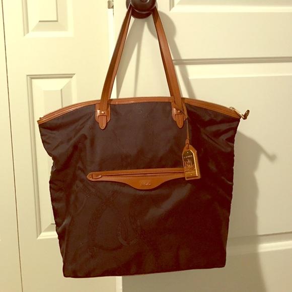 098c6f7e64da Lauren Ralph Lauren Handbags - Ralph Lauren equestrian tote