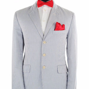 J.Crew 100% Cotton Seersucker Blazer Sz 40S