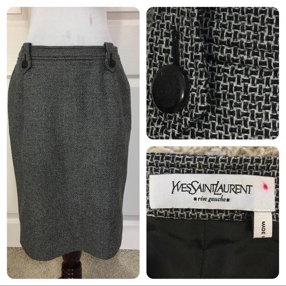 592586f1203 Yves Saint Laurent Skirts | Yves St Laurent Rive Gauche Skirt | Poshmark