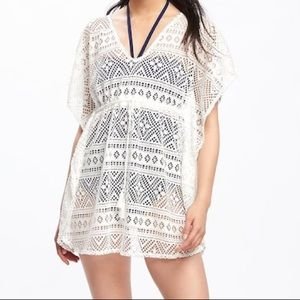 Old navy lace swim suit cover up
