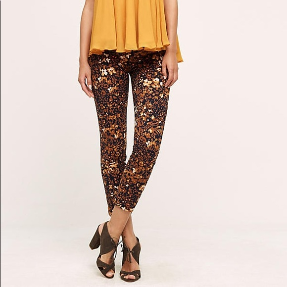 Anthropologie Pants - Anthropologie The Essential Slim printed trouser