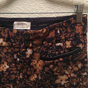 Anthropologie Pants - Anthropologie The Essential Slim printed trouser