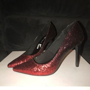 Shoes - Black and red ombre high heels