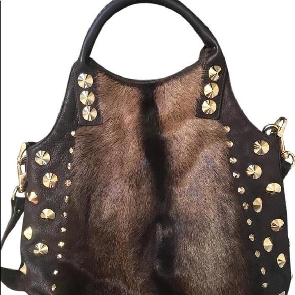 Be & D Handbags - BE&D large Garbo fur