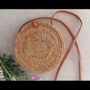 Round Rattan Bag Bohemian Shoulder Bag