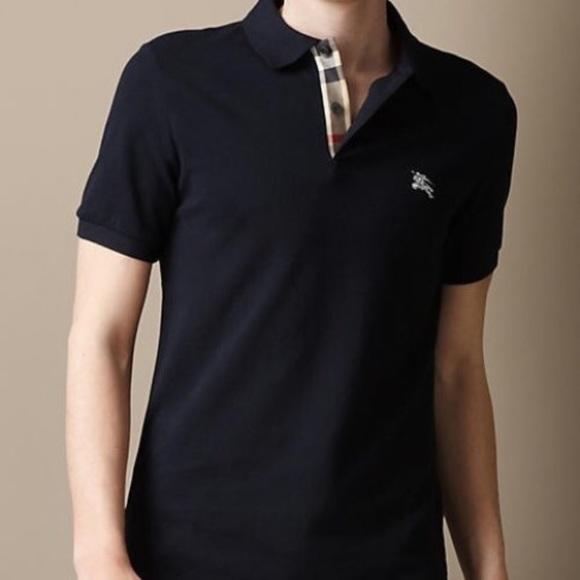 041be107 Burberry Shirts   Brit Slim Fit Navy Blue Polo Shirt   Poshmark