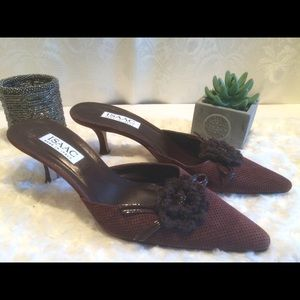 Isaac made in Italy mules, sz 8 1/2