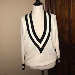 Nasty Gal Extreme Deep V Varsity Sweater