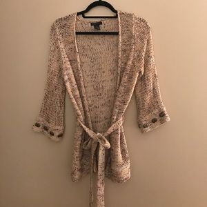 BCBG MAX AZRIA Long Cardigan with Tie Size S