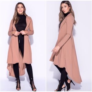 🆕LAST ONE! Becca Dipped Hem Waterfall Duster