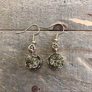 3 for $25 Handmade Gold Druzzy Earrings