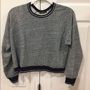 Zara grey crop top sweater
