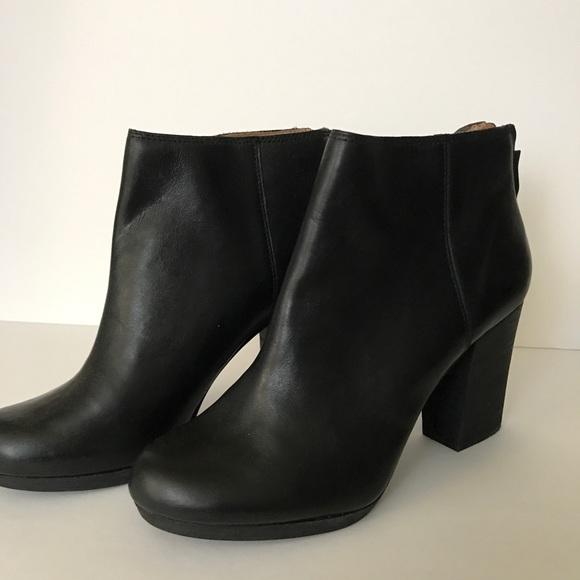 8feeb0bdf96 Madewell Caleb Ankle Boot Black Bootie Leather