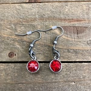 3 for $25 Handmade Red Dangle Earrings