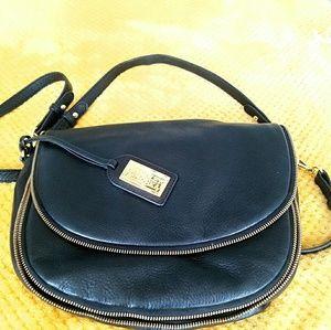 Badgley Mischka Ingrid Pebbled Leather Saddle Bag