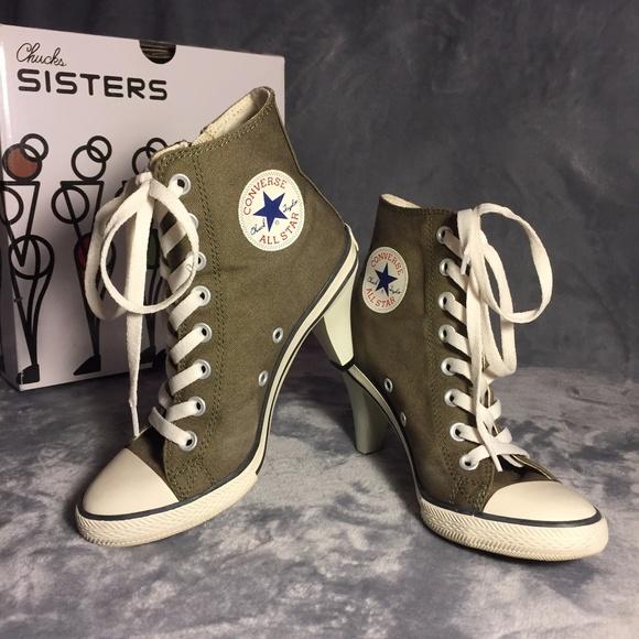edfc01eab63f Converse Shoes - CONVERSE Chuck Sisters All Star Heel Z Hi Sneakers
