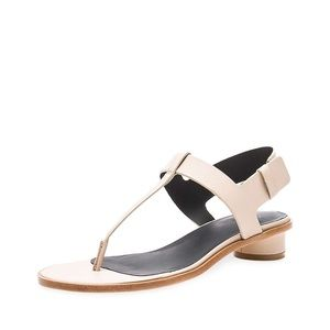 Tibi Nude color Thong Sandals