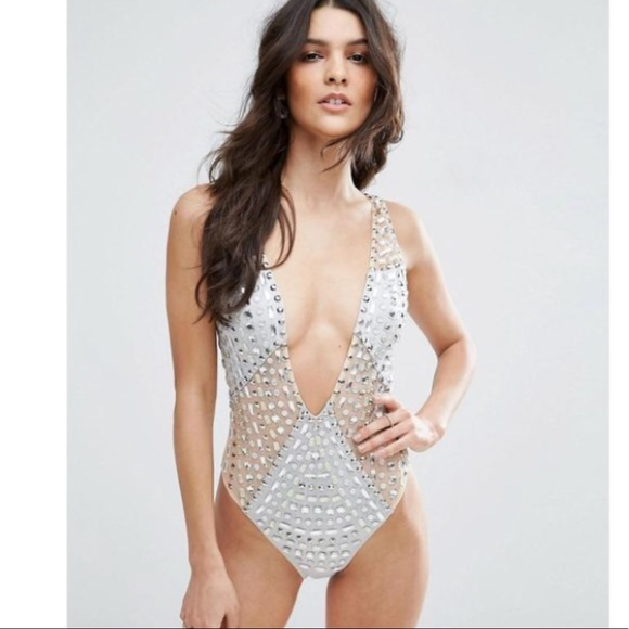 ea4952e0fe4dc Asos Other - NWT✨ ASOS Gem Encrusted Embellished Swimsuit 😍