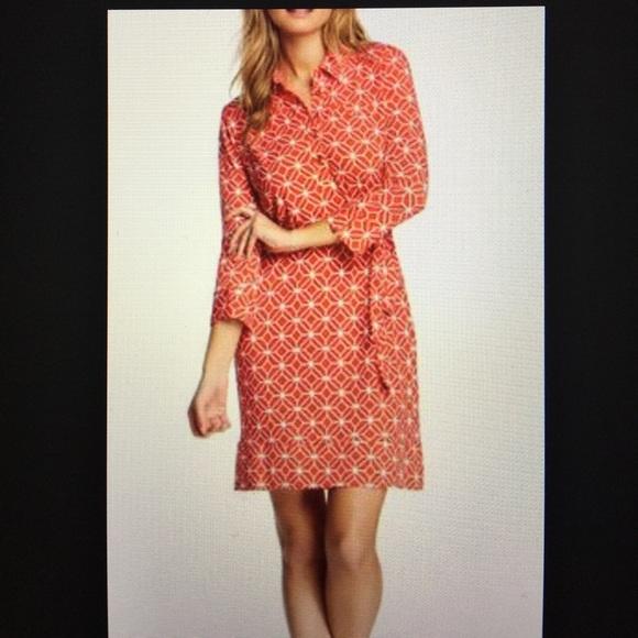 Donna Morgan Dresses Marlow Printed Jersey Shirt Dress Poshmark