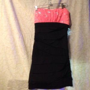 Deb strapless dress size large