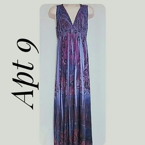 Apt 9 Empire Waist  Maxi-Dress Purples Size Medium