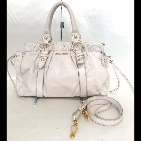 Authentic miu miu 2 way Shoulder Bag Leather. M 59d4996bd14d7b1b1c07a2dc ff37bf617a5f7