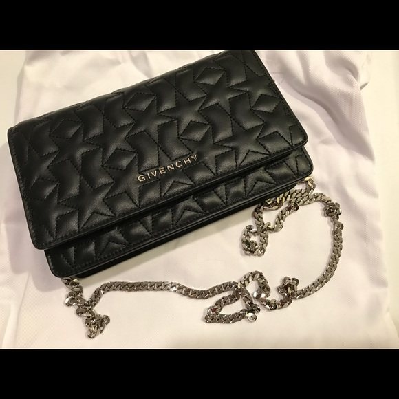 New Givenchy Black Pandora Wallet on Chain Bag 95791da193281