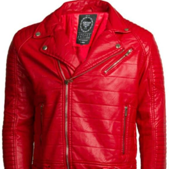 fa591438bf6b0e Red leather Jordan Craig jacket