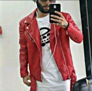 6d20f7d87385d4 Jordan Craig Jackets   Coats - Red leather Jordan Craig jacket